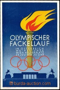 61782 - 1936 OLYMPIC GAMES, Austria, postcard without address lines