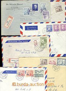 61784 - 1947-50 sestava 11ks dopisů zaslaných letecky do USA, 2x j