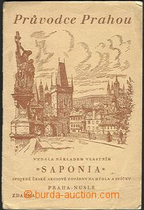 61814 - 1938 Průvodce Prahou, plán města a textový doprovod, rek