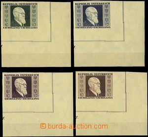 61824 - 1946 Mi.772B-775B  Dr.K.Renner, LR corners miniature sheets,