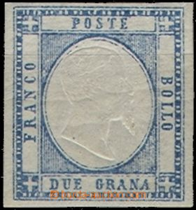 61847 - 1861 Mi.4 Victor Emmanuel II., wide margins, lightly hinged,