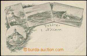 61921 - 1900 Křinec - 4okénková, obchod, kostel, zámeček; DA, nepouž