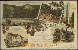 61927 - 1900 Šumava - Třístoličník (Dreisessel), hotel Muhr, li