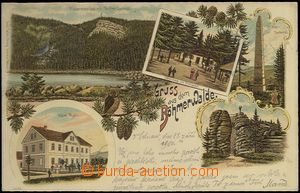61927 - 1900 Šumava - Třístoličník (Dreisessel), hotel Muhr, litogra