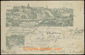 61931 - 1898 Bechyně - forerunner Ppc; Us in 1898, pulled-down stam