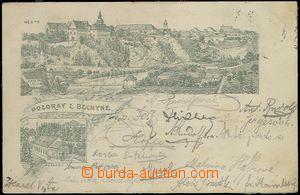 61931 - 1898 Bechyně - předchůdce pohlednice; prošlá v roce 1898, st