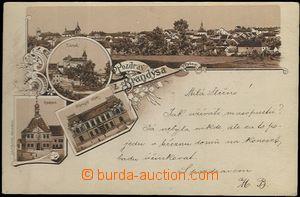 61932 - 1898 Brandýs nad Labem - forerunner postcard, print on corre