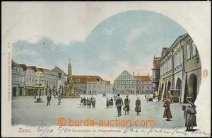61936 - 1900 Žatec (Saaz) - figures in the square; long address, Us,