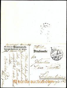 61950 - 1915 dvojitý lístek, vzadu barevný přítisk písně o v�