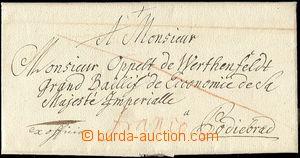 61952 - 1756 skládaný dopis Ex offo adresovaný do Poděbrad s če