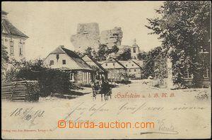 61957 - 1898 Jestřebí (Habstein) - povoz na ulici; DA, prošlá, odřen
