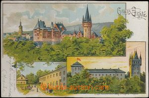 61959 - 1900 Hradec nad Moravicí   - 3-views lithography; long addre