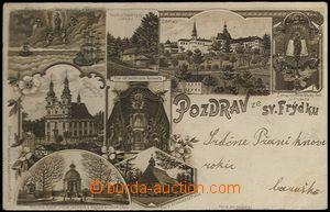 61969 - 1899 Frýdek-Místek - 8-okénková koláž, kostelík na Prašivé,
