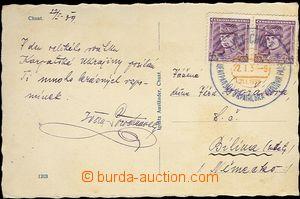 61973 - 1939 CHUST, pohlednice zaslaná v den zasedání Ukrajinské