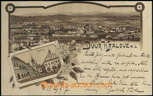 61975 - 1897 Dvůr Králové nad Labem - litografická koláž; DA, prošlá