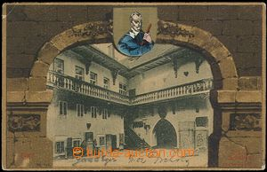 61976 - 1902 Cheb (Eger) - picture collage arcade, Wallenstein house