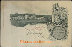 61977 - 1901 Dobřany (Dobrzan) - collage, brewery, beer drinker, bar
