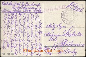 61978 - 1917 PUNTA ACCUZZO, thin/light CDS Field Post Pola/ 17.XII.1