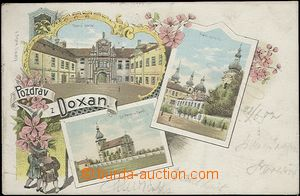 61980 - 1902 Doksany (Doxan) - lithography; long address, Us, good c