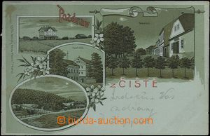 61982 - 1901 ČISTÁ - lithography, railway-station, steam mill, squ