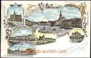 61989 - 1899 Prostějov, Gruss aus Prossnitz, barevná kolážová lito,