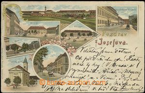 61999 - 1897 Josefov - lithography; long address, Us, bumped corners