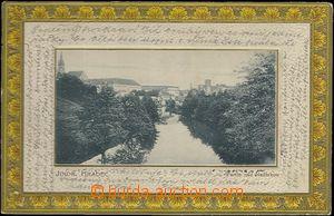 62001 - 1904 Jindřichův Hradec - pohled přes řeku, tlačená, široký o