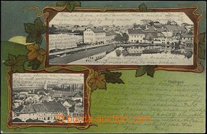 62003 - 1904 Jindřichův Hradec (Neuhaus) - 2okénková koláž, litograf