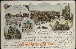 62007 - 1899 Jičín - litografická koláž, Prachovské skály; DA, prošl