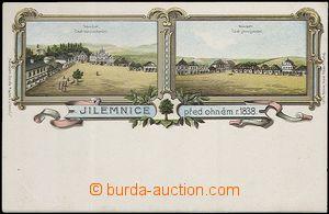 62008 - 1900 Jilemnice - litografická koláž, město před požár