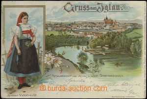 62015 - 1900 Jihlava (Iglau) - lithography, girl in costume, plaveck