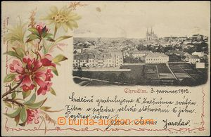 62016 - 1902 Chrudim - picture collage; long address, Us, very good