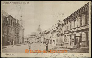 62017 - 1900 Choceň - people in the square, pump; long address, Us,