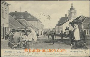 62018 - 1904 Chlumec nad Cidlinou -  B/W collage, people in the squa