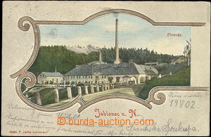 62030 - 1902 Jablonec nad Nisou, brewery, color collage, long addres