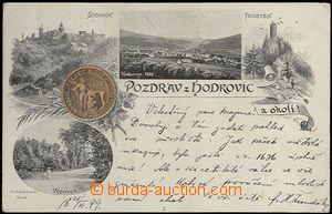 62032 - 1899 Hodkovice nad Mohelkou - 4okénková koláž, pečeť města;