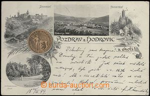 62032 - 1899 Hodkovice nad Mohelkou - 4okénková koláž, pečeť m
