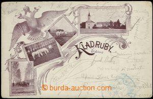 62038 - 1907 Kladruby nad Labem - 4okénková koláž, koně; DA, prošlá,