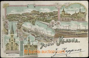 62039 - 1900 Kladno - lithography, iron-works, Poldina works; long a