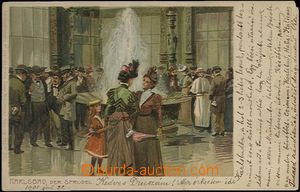 62044 - 1901 Karlovy Vary (Karlsbad) - lithography, ladies by/on/at
