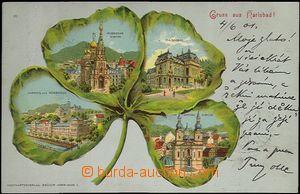 62045 - 1901 Karlovy Vary (Karlsbad) - litografická koláž čtyřl