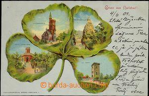 62046 - 1901 Karlovy Vary (Karlsbad) - litografická koláž čtyřl