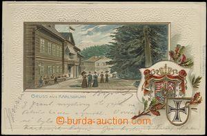 62047 - 1903 Karlova Studánka (Karlsbrunn) - litografická koláž,