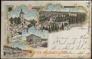 62048 - 1899 Kamenice nad Lipou - lithography; long address, Us, oxi