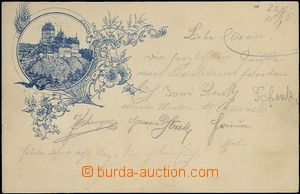 62049 - 1895 Karlštejn (castle) - forerunner Ppc; long address, Us,