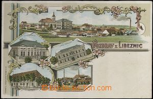 62056 - 1901 Líbeznice - lithography, post off., hotel, pub, municip