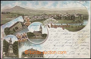62059 - 1899 Libochovice - lithography; long address, Us, light stai