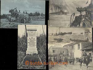 62067 - 1915-17 sestava 5ks pohlednic vojáků v I. sv. válce, 2x poto