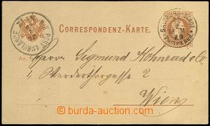 62069 - 1880 dopisnice Mi.P25 s DR Salzburg-Stadt/ Postexped./ 25.2.