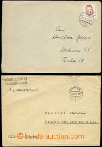 62087 - 1952-57 Leopoldov, Příbram, comp. 2 pcs of letters on/for